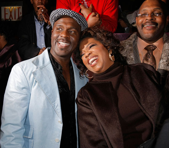 BeBe Winans and Oprah Winfrey