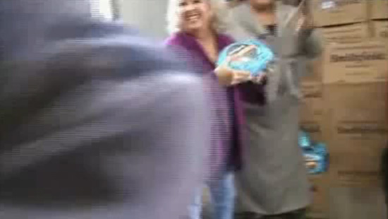 VIDEO: Paula Dean Hit in the Face with a Ham! -- click to watch!