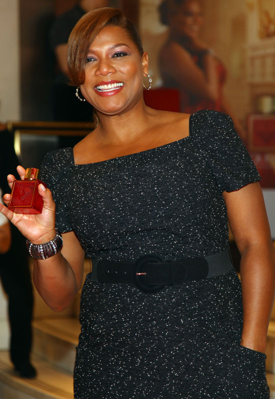 "Queen Latifah promoting her new ""Queen"" fragrance at Macy's Herald Square in New York City"