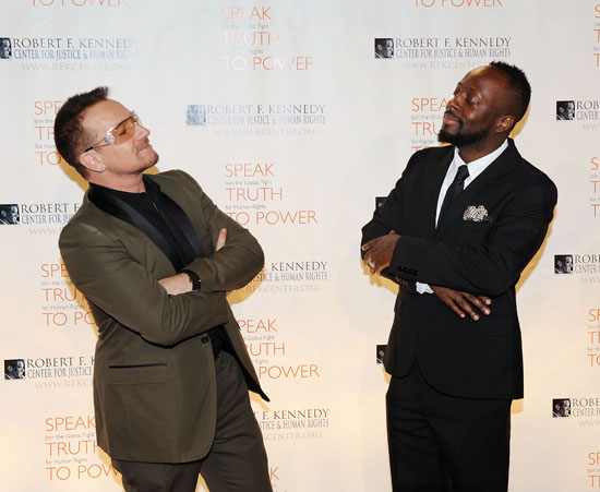 Wyclef Jean & Bono // RFK Center Ripple of Hope Awards Dinner in New York City