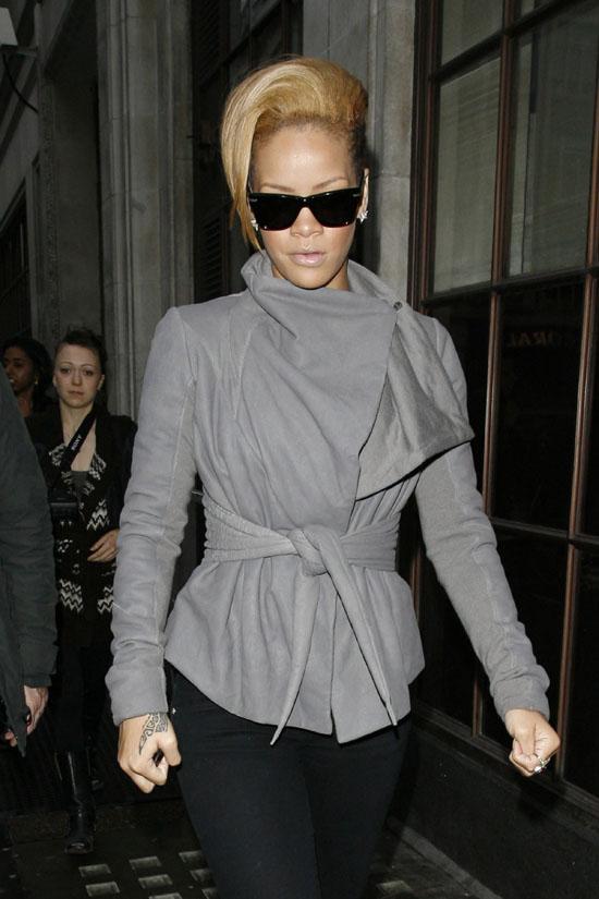 Rihanna leaving BBC Radio One in London, England - November 13th 2009