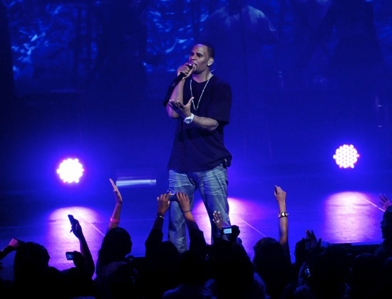R. Kelly performs in concert at the James L. Knight Center in Miami, FL