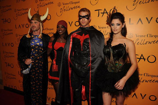 Sam Trammell, Rutina Wesley, Kellan Lutz and Ashley Greene // Veuve Clicquot's Yelloween At TAO And LAVO in Vegas