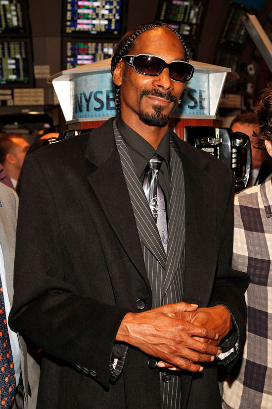 Snoop Dogg Rings the NYSE (New York Stock Exchange) Opening Bell in New York City