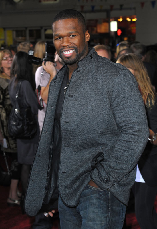 "50 Cent // ""Twilight: New Moon"" Movie Premiere in Westwood, CA"