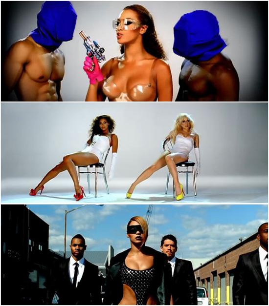 "Beyonce & Lady Gaga ""Videophone"" music video stills"