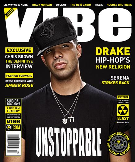 Drake // December 2009 VIBE Magazine. Drake is facing off with Chris Brown