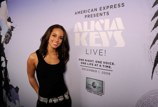 Alicia Keys // World Aids Day Charity Concert in New York City