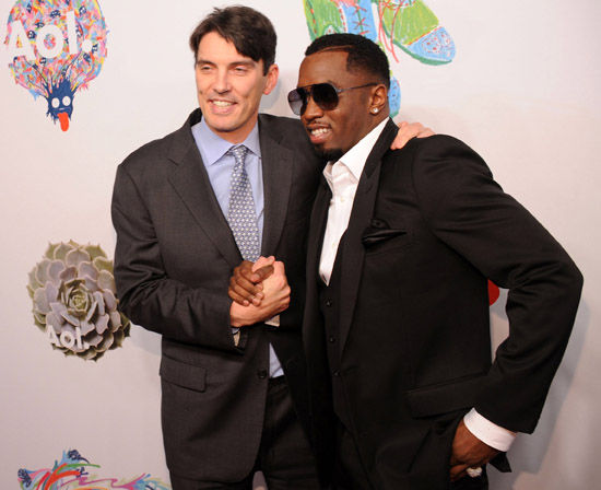AOL CEO Tim Armstrong and Diddy // AOL's Party Celebrating Their Independence
