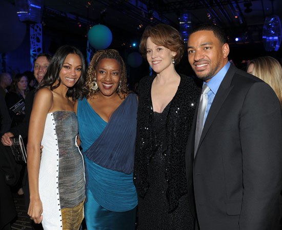 "Zoe Saldana, CCH Pounder, Sigourney Weaver and Laz Alonso // ""Avatar"" Movie Premiere in Hollywood"