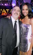 "Producer Jon Landau & Zoe Saldana // ""Avatar"" Movie Premiere in Hollywood"