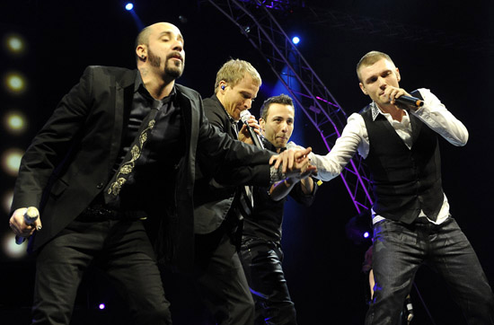 """Backstreet Boys perform for their """"This Is Us"""" tour in Belgrade, Serbia"""