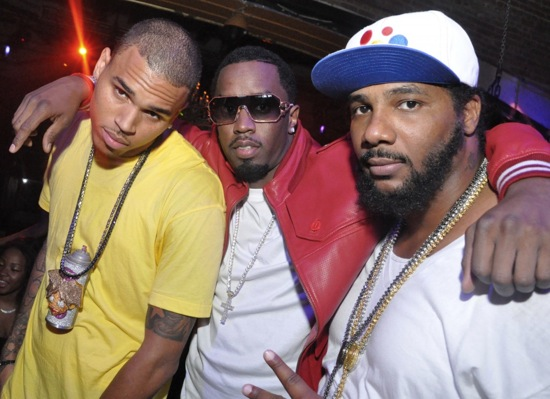 Chris Brown, Diddy and Polow Da Don // Chris Brown's Album Release Party/Concert Afterparty in Atlanta