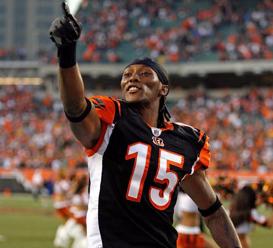 Chris Henry (#15) of the Cincinnati Bengals