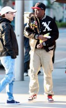 Diddy out and about (eating candy he had just bought from some kids) in Los Angeles - December 22nd 2009