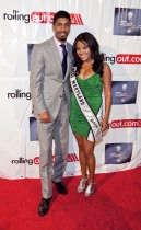 Fonzworth Bentley and Miss Maryland Nicole Almodovar // Gillette Fusion Men of Style Awards