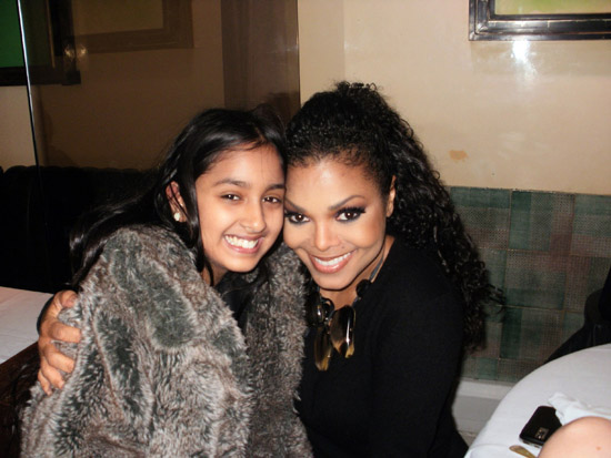 Janet Jackson // Mr. Chow's in London, England - December 6th 2009