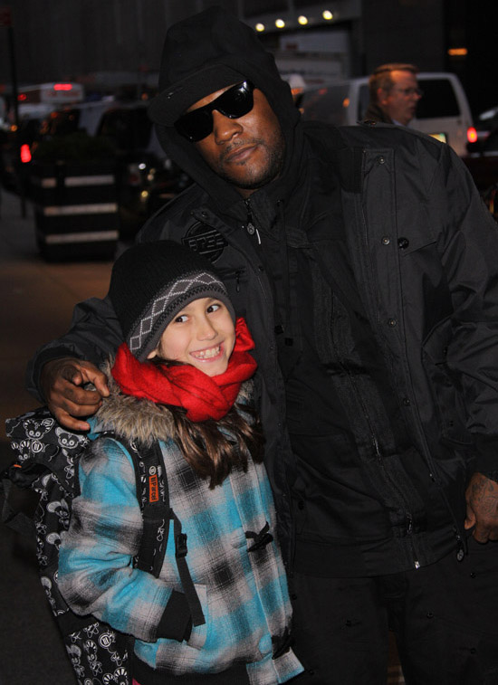 Young Jeezy and a fan in New York City - December 10th 2009