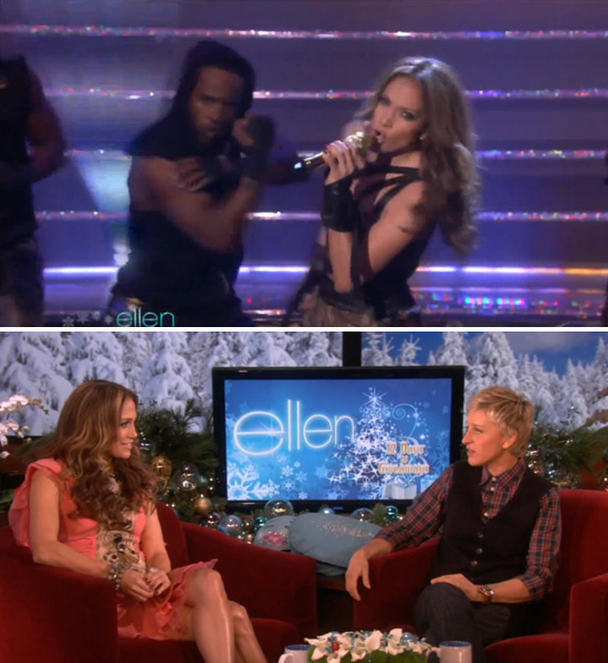 "VIDEOS: Jennifer Lopez on Ellen (""Louboutins"" Performance + Interview) -- click to watch!"