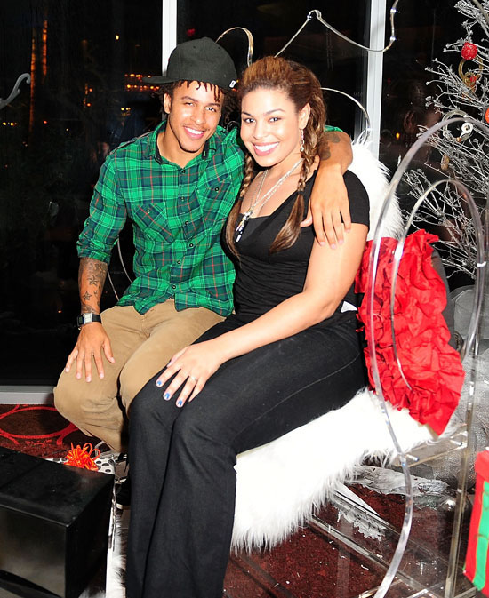 Jordin Sparks and her boyfriend Steph Jones // Eden's Roc in Miami Beach, FL