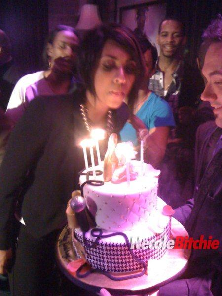 Keri Hilson at her 27th birthday party in LA