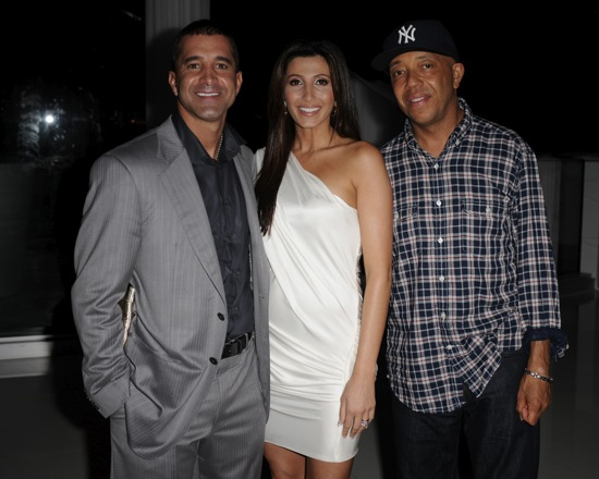 "Scott Stapp, his wife Jaclyn and Russell Simmons // Rush Philanthropic Arts Foundation's ""Kiss My Art"" Event"
