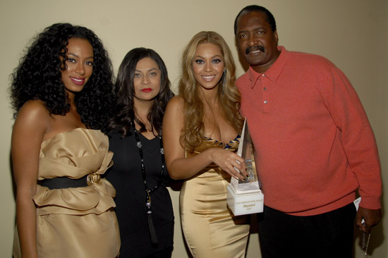 Solange, Tina, Beyonce and Mathew Knowles
