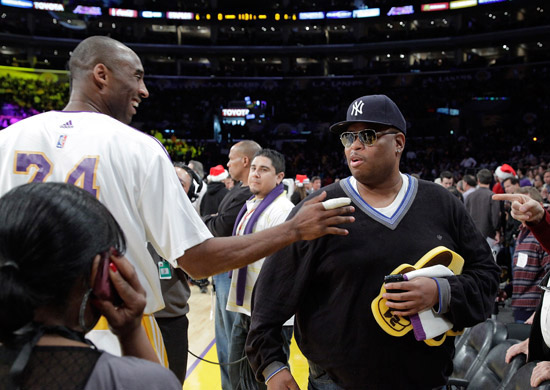Cee-Lo & Kobe Bryant // Los Angeles Lakers vs. Cleveland Cavaliers basketball game in LA - December 25th 2009