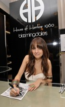 Nicole Richie promotes her House of Harlow 1960 Holiday Collection at Bloomingdales in Costa Mesa, California