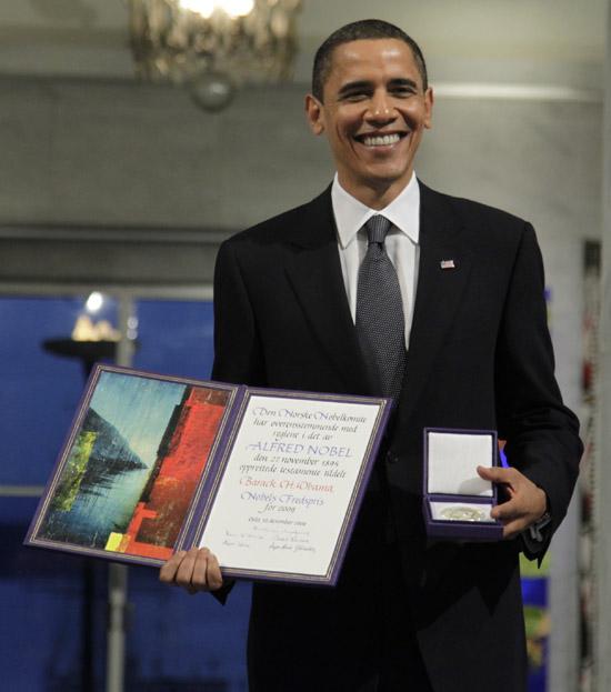 President Barack Obama // Nobel Peace Prize Press Conference in Norway