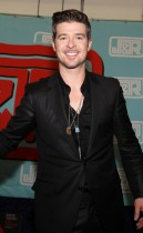 """Robin Thicke promoting his new """"Sex Therapy"""" album at J&R Music and Computer World in New York City"""
