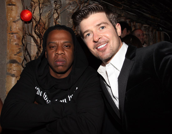 """Jay-Z and Robin Thicke // Robin Thicke's """"Sex Therapy"""" Album Release Party"""