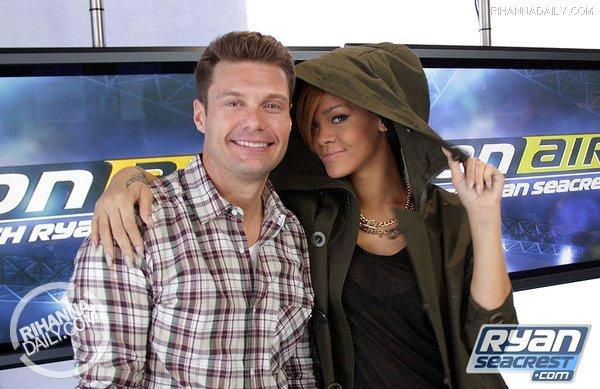 Ryan Seacrest and Rihanna