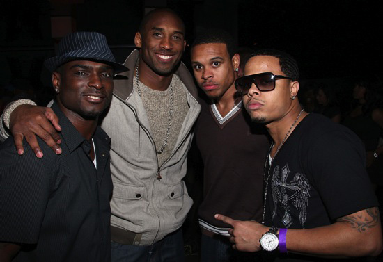 Anthony Lindsey, Kobe Bryant, Shannon Brown and Omarr Gilbert // LA Laker Shannon Brown's 24th Birthday Party