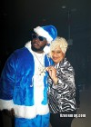 T-Pain and his mom Aliyah // T-Pain's Christmas Party at the Nappy Boy Mansion in Atlanta