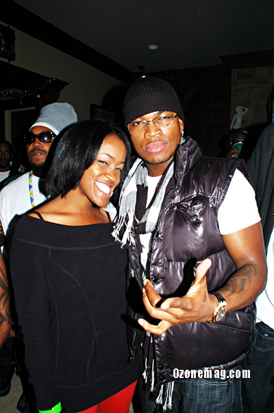 Ne-Yo and his sister Nikki // T-Pain's Christmas Party at the Nappy Boy Mansion in Atlanta