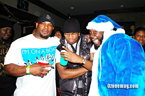 Porn star Mr. Marcus, Ne-Yo and T-Pain // T-Pain's Christmas Party at the Nappy Boy Mansion in Atlanta