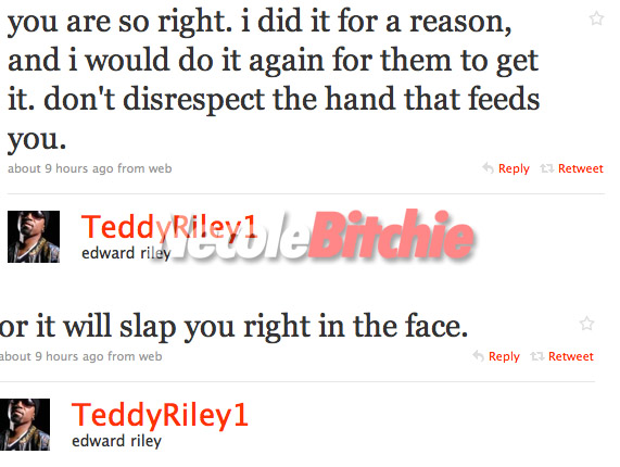 Teddy Riley and his daughter fighting about his girlriend on Twitter