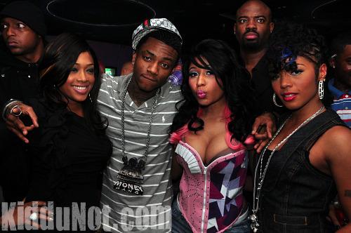 Trina, Soulja Boy and Nicki Minaj // Nicki Minaj & Trina's Birthday Party at Studio 72 in Atlanta - December 4th 2009