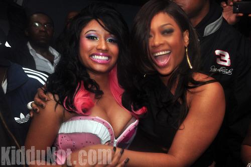 Nicki Minaj and Trina // Nicki Minaj & Trina's Birthday Party at Studio 72 in Atlanta - December 4th 2009