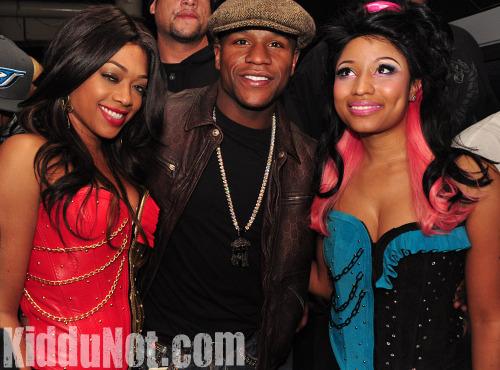 Trina, Floyd Mayweather Jr. and Nicki Minaj // Nicki Minaj & Trina's Birthday Party at Club Miami in Atlanta - December 5th 2009