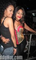 Teyana Taylor and Trina // Nicki Minaj & Trina's Birthday Party at Club Miami in Atlanta - December 5th 2009
