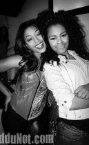 Trina and Teyana Taylor // Nicki Minaj & Trina's Birthday Party at Club Miami in Atlanta - December 5th 2009