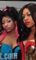 Nicki Minaj and Trina // Nicki Minaj & Trina's Birthday Party at Club Miami in Atlanta - December 5th 2009