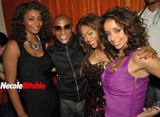 Toccara Jones, Floyd Mayweather Jr., Trina and Mya  // Trina's Birthday Party in Miami