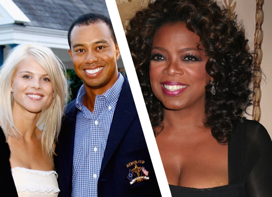 Tiger Woods & his wife Ellen // Oprah Winfrey