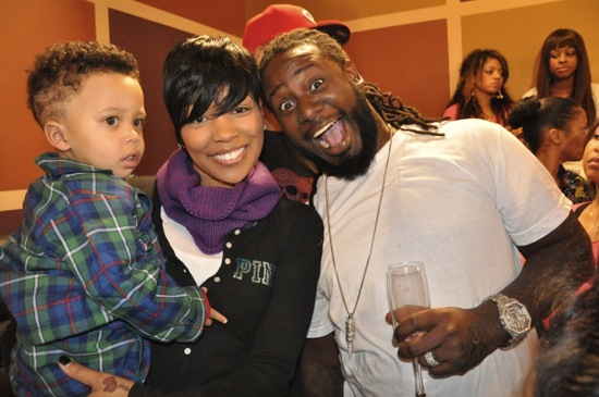 Monica, her son Romelo and T-Pain // Regine Carter's (Lil Wayne and Toya's daughter) 11th Birthday Party in Atlanta
