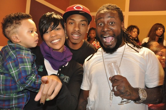 Monica, her son Romelo, Ben J of the New Boyz and T-Pain // Regine Carter's (Lil Wayne and Toya's daughter) 11th Birthday Party in Atlanta