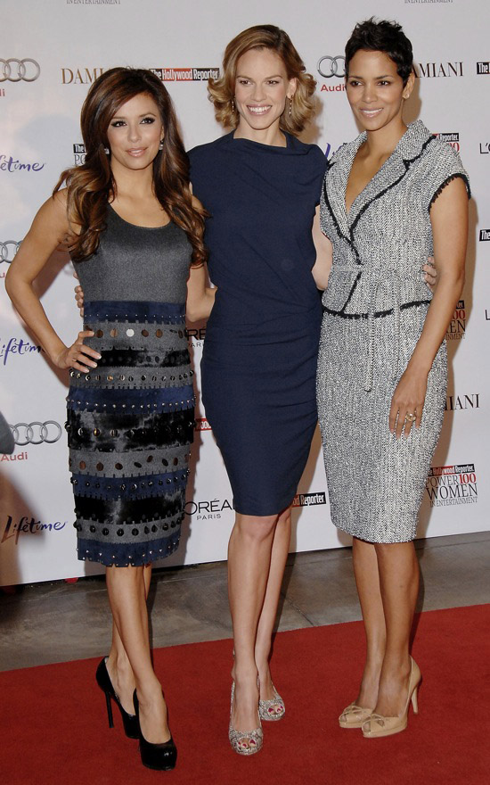Eva Longoria, Hilary Swank and Halle Berry // The Hollywood Reporter's Annual Women in Entertainment Breakfast