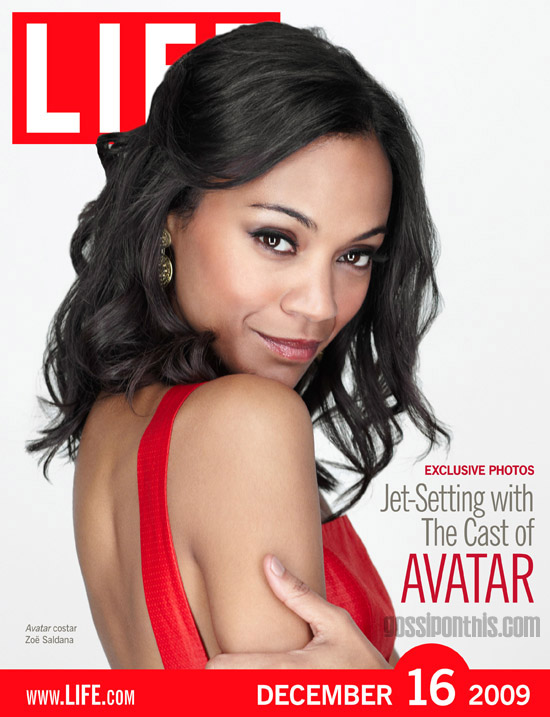 Zoe Saldana // December 16th cover of LIFE Magazine
